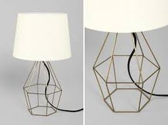 Image result for geometric light fixture gold