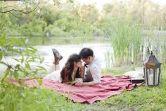 A Sweet Picnic Engagement - ostentation girl Picnic Engagement Photos, Engagement Photo Props, Engagement Photo Inspiration, Engagement Pictures, Engagement Shoots, Vintage Engagement Photos, Picnic Photography, Couple Photography Poses, Engagement Photography