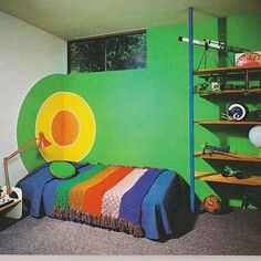 Saturday morning supergraphic, basement bullseye edition  #saturdaymorningsupergraphic #70s #seventies #vintagehome