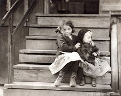 Photo of two little girls 8x10 by VintageShowcase on Etsy, $9.00