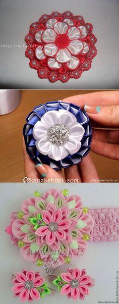 цветы канзаши - Самое интересное в блогах