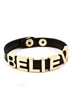 Jet Believe Charm Bracelet on Emma Stine Limited