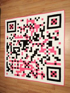 Get your own custom made QR code quilt (reserved for Savannah) on Etsy, $200.00