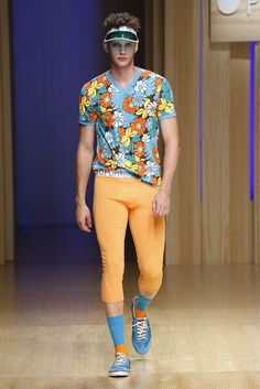 """""""Past meets future in Miami"""", SS/2015 collection, 080 Barcelona Fashion, men underwear. By Punto Blanco with Joan Pedrola."""