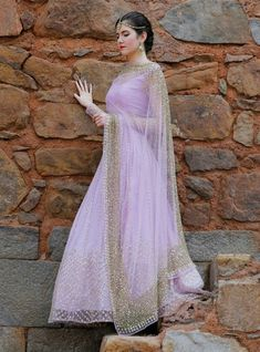 No one does lilac and shimmer better than our very own Astha Narang. Affordable chic this is the perfect pre-wedding outfit for you. Indian Lehenga, Net Lehenga, Bridal Lehenga, Anarkali, Lehenga Top, Lehenga Designs, Indian Attire, Indian Wear, Indian India