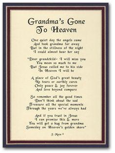 Happy Birthday Grandma in Heaven | ... for grandma Happy Birthday Poems For Grandma. rip poems for grandma