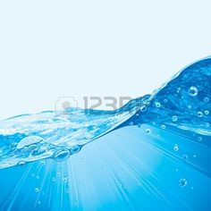 Abstract Water Wave Background With Bubbles