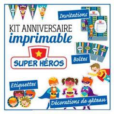 kit anniversaire super heros