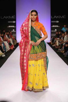 Colorful lengha by Gaurang Shah. Lakme Fashion Week 2014