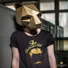 NEED A FANCY DRESS COSTUME? Make your own BEAR MASK from recycled card with…