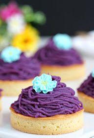 Purple Sweet Potato ont Blanc Tartlet