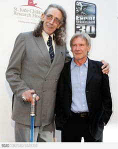 Han Solo and Chewbacca 30 years later