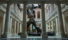 \'treasures from the wreck of the unbelievable \' is currently on show at palazzo grassi and punta della dogana. see the installment of the centerpiece in the foyer of palazzo grassi, \'demon with bowl\',  a more than 18 meter tall sculpture.