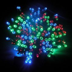 ZITRADES 100 LED RGB Solar String Fairy Muti-Color Lights 55ft Outdoor Garden Xmas and Party By ZITRADES by ZITRADES. $19.99. PRODUCT FEATURES: Powered by solar energy, no wiring needed Glowing for more than 8 hours in the night after fully charged during the day Waterproof, suitable for both indoor and outdoor use Wide applications, great for various celebration occasions, especially for outdoor activities in the garden or lawn Two working modes: Flashing/Glimmering & ...