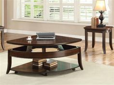 Shop Keenan Walnut Wood Lift Top Coffee Table Set with great price, The Classy Home Furniture has the best selection of Coffee Table sets to choose from Contemporary Bedroom Furniture, Home Furniture, Lift Top Coffee Table, Cocktail Tables, Walnut Wood, Dining Table, Home Decor, Dining Rooms, Centerpieces