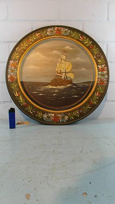 Folklore Primative Dutch Hindeloopen Painted Wooden Wall Charger | eBay