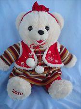 "Snowflake Miss Santa Teddy, DanDee, 2010, 18""Tall, Plush, Sweet!"