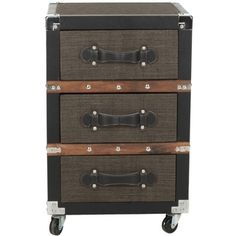 Safavieh Lewis Brown 3-Drawer Rolling Chest w/out wheels $205