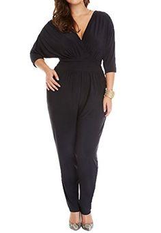 b56d3e58242 New fashion women simple style jumpsuits rompers women plus size brief women  clothing elegant black jumpsuit. Petty William