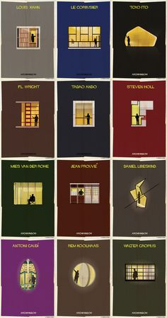 Archiwindow Poster Series by Federico Babina - Poster illustrations by Federico Babina of his Archiwindow series. - Archiwindow Poster Series by Federico Babina - Poster illustrations by Federico Babina of his Archiwindow series. Detail Architecture, Concept Architecture, Interior Architecture, Drawing Architecture, Series Poster, Concept Diagram, Bauhaus, Illustrations Posters, Vintage Illustrations