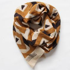 block shop | mosaic scarf in marigold and black