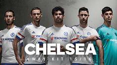 White Chelsea Shirt Chelsea FC Away Kit by Adidas Football Fashion, Football Outfits, Adidas Football, Football Jerseys, Chelsea Fc 2016, Maillot Bayern, Chelsea Football Club, Chelsea Champions, Gary Cahill
