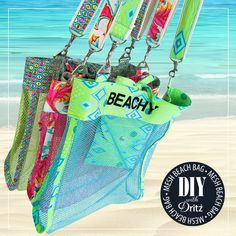 Mesh Beach Bag: Fun & Functional with Dritz Lettering & Hardware | Sew4Home