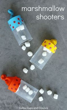 Kids and adults love this DIY marshmallow shooters game! Such a fun craft for kids to make and play with, plus it doubles as a science project.