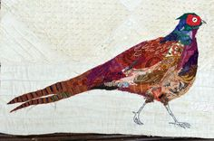 Pheasant collage by Mandy Pattullo