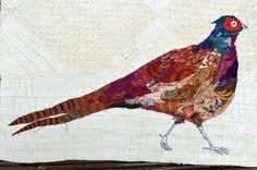 Pheasant collage by Mandy Pattullo