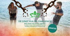 3 weken lang online begeleiding in voeding, beweging & ontspanning! Unchain jezelf van slechte gewoonten and Change your Health & Innovate Now