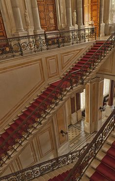 The Hermitage Museum, Saint Petersburg, Russia. Seriously, think of who has walked those stairs through the years.