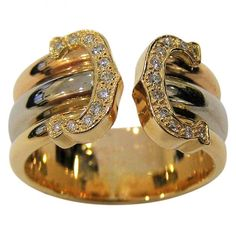 4e81608bccc56 C yellow gold ring Cartier White in Yellow gold - 7140823