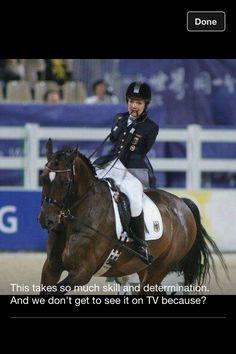 Para-equestrians...wow
