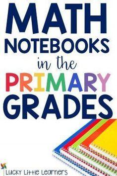 Math notebooks can b