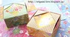 お早うございます♪ 。 今日も折り紙を楽しみましょう! この箱は パッチワークみたいです。 私のお気に入りの折り紙小箱です。 1枚の折り紙でできています。 * 折り紙・ミニケース ■折り方(左)&アニメ(右)*クリック♪■ ...