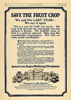 1917 Ad American Sugar Refining Company Domino Cane   - ORIGINAL ADVERTISING