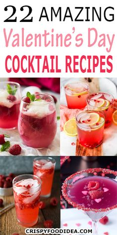 Celebrate your Valentine's Day with these amazing beautiful cocktail drinks recipes with your partner. Finish the complete dinner with these drinks recipes and enjoy the romantic night!  #cocktail #drinkrecipes #partydrinks #valentine #valentinesdaydrink #adultdrink #thanksgiving #holiday #appetizer