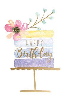 Happy Birthday Painting, Happy Birthday Art, Watercolor Birthday Cards, Birthday Card Drawing, Happy Birthday Wishes Images, Happy Birthday Wallpaper, Happy Birthday Pictures, Happy Birthday Greetings, Happy Birthday Beautiful