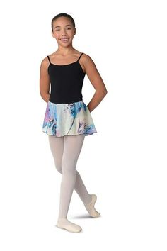 6e68f608fd641 Danshuz Feather Print Skirt Blue Feather, Feather Print, La Dance, Dance  Wear,