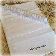 Beautiful Rosebud and ruffle baby girl burp by TheTinyTrendsetter, $8.00