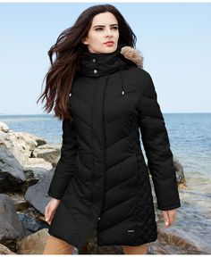 S13/NYC Alps Faux-Fur-Hood Belted Down Puffer Coat | Baby It's ...