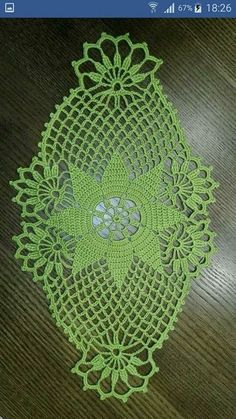 Oval crochet doily pineapple crochet doily oval by kroshetmania