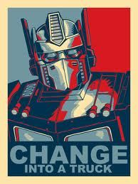 Optimus Prime Poster--Change Into a Truck