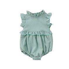 Sewing Baby Girl Baby Girl Sleeveless Ruffle Romper Bloomer For Infant Ruffle Romper, Baby Girl Romper, Baby Girl Newborn, Baby Dress, Baby Girls, Toddler Girls, Ruffle Collar, Infant Toddler, Baby Bloomers