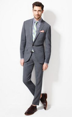 Great looking suit and ensemble. I'm just too old for the sockless thing with a suit. Even when I was young, I couldn't do it. Of course, on these guys, in a photo, it looks great. The Ludlow Shop