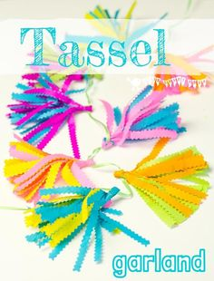 TASSEL GARLANDS - Make cute and colourful mini tassel garlands - perfect for decorating kids bedrooms, parties or even the garden! Fabulous for building fine motor skills too.