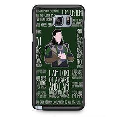 Loki Quotes TATUM-6627 Samsung Phonecase Cover Samsung Galaxy Note 2 Note 3 Note 4 Note 5 Note Edge