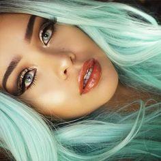 pretty pastel mint hair