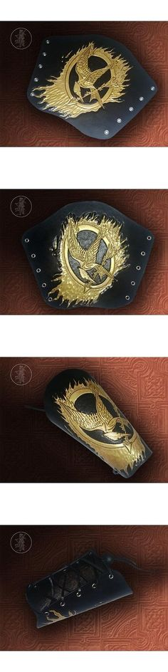 Arm Guards and Chest Guards 181298: Hand Carved Leather Archery Bracer, Armguard. Hunger Games Mockingjay Design -> BUY IT NOW ONLY: $29.5 on eBay!